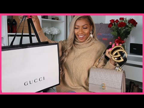 LUXURY DESIGNER BIRTHDAY GIFTS HAUL! FENDI,GUCCI,CHANEL!