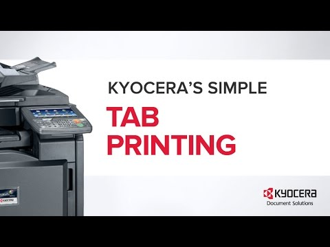 mfp how to tab printing