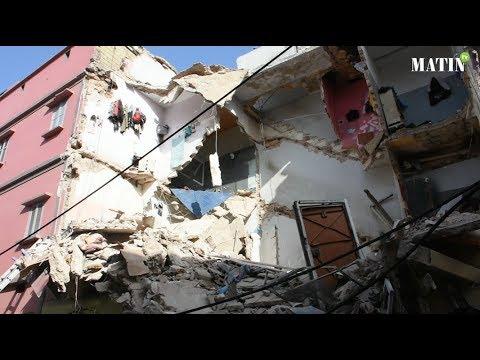 Casablanca : Effondrement d'un petit immeuble menaçant ruine à Derb Kabir
