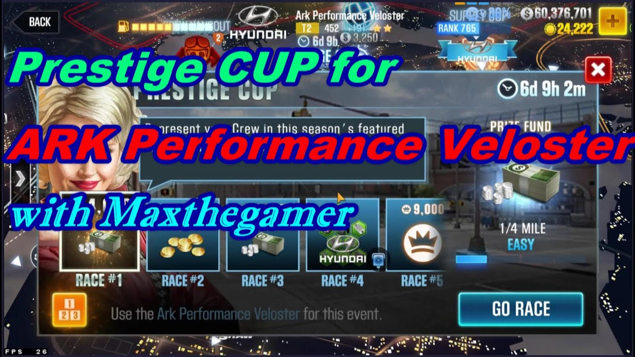 CSR2 ARK Veloster Prestige Cup using Stage 5 parts only!