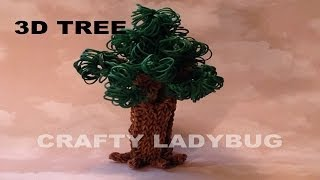 Rainbow Loom 3d Tree-part 2 Advanced Tutorial By Crafty Ladybug. Wonder Loom, Diy Loom