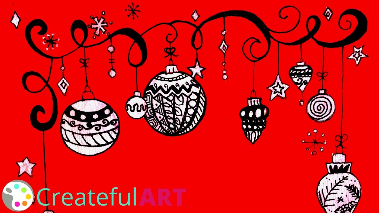 How to Draw Christmas Ornaments--Zentangle Inspired - YouTube
