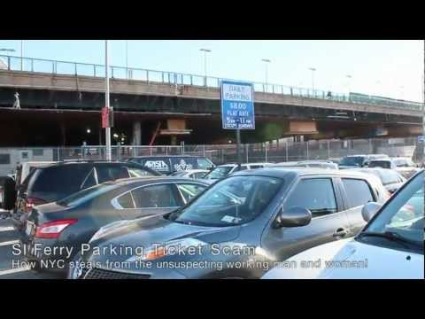 NYC Parking Ticket Scam at the Staten Island Ferry