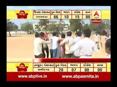 Gandhinagar : Congress Workers Beats BJP Worker, Watch LIVE VIDEO