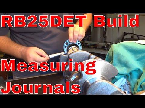 R32 GTST Time Attack Build  RB25DET Engine Build Spare crank shaft checks