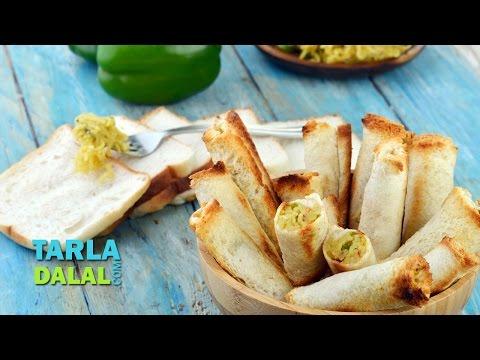 Cheesy Maggi Bread Rolls/ Simple Snack/ Easy To Make Party Starter Recipe by Tarla Dalal