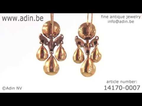 Top notch Baroque rose cut diamond ear jewels antique earrings. (Adin reference: 14170-0007)