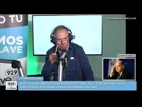 """José Miguel Insulza en Combinación Clave: """"Bolivia culpa de todos sus males a Chile"""""""