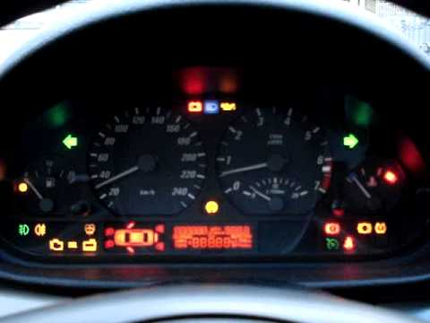 Bmw E46 Dash Light Test Youtube
