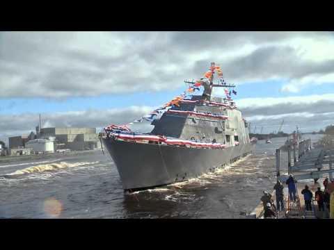 LCS 7 Detroit Side Launch