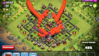 CLASH OF CLANS 999 balloons and wizards attack !!!