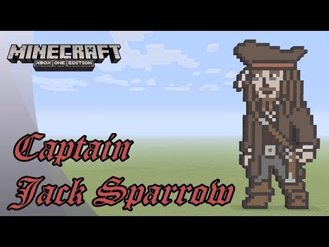 Minecraft: Pixel Art Tutorial and Showcase: Captain Jack Sparrow (Pirates of the Caribbean)