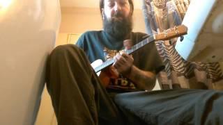 goofing off on my baritone ukulele/mandola hybrid!
