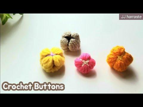 sub) 코바늘 뜨개단추뜨기, 코바늘 짜투리실로 단추만들기 ,  crochet buttons
