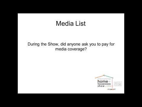 Using The International Home   Housewares Show Buyer   Media Lists