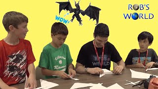 Fun with Boomerangs! My First Origami Convention & Meeting Fans