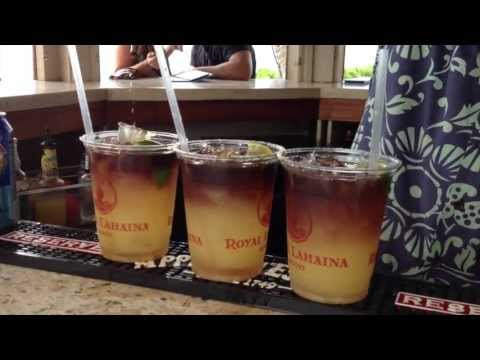 Mai Tai cocktail by Rumble TV film crew on location in Hawaii