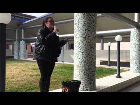 Mina all'Università di Fisciano