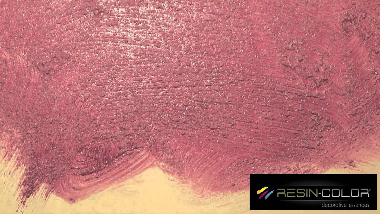 terre d'oriente effetto pennellato resin-color - youtube - Pareti Glitter Oro