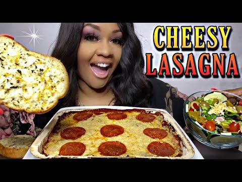 Download CHEESY LASAGNA, SALAD AND FIVE CHEESE GARLIC BREAD | SPECIAL REQUEST ✨