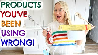 PRODUCTS YOU'VE BEEN USING WRONG! LIFE HACKS / HOME HACKS. HIDDEN PRODUCT FEATURES
