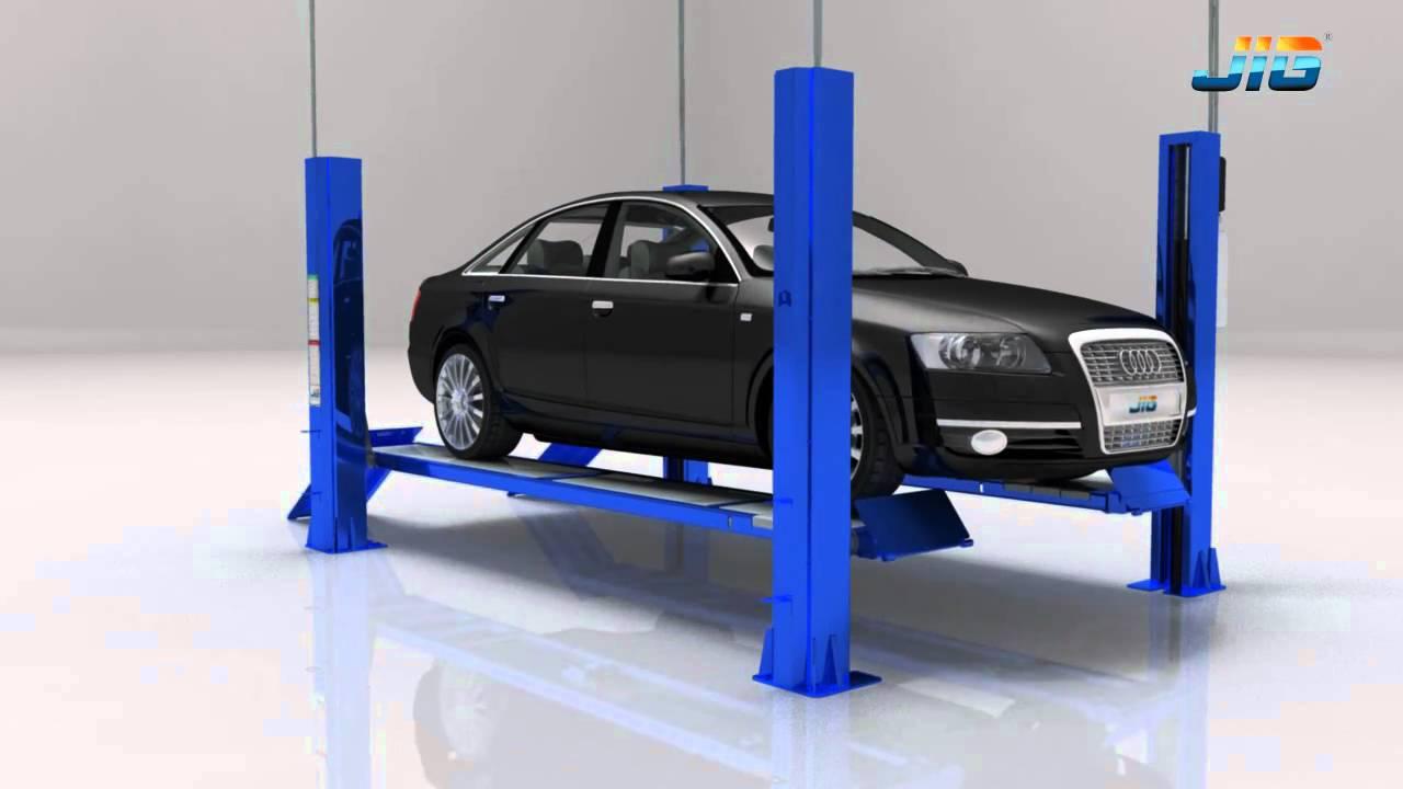 4 Post Car Lifts: Introduce FPA/FPL514 4 Post Car Lift-JIGLIFT