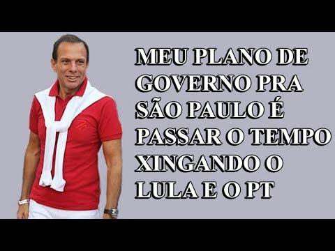 Resposta a Doria: xingar Lula não é trabalho