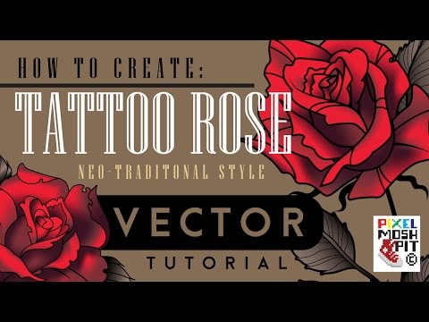 How to Create: Neo Tradtional Tattoo Rose Vector Tutorial