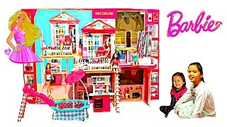 NEW BARBIE Mattel Toys Videos Barbie Your Style House with 3 Dolls + Accessories Kids Balloons Toys