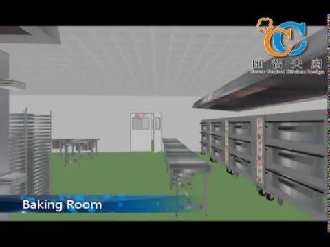 Bakery Central Kitchen 3D Design