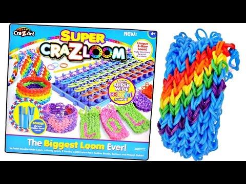 BIGGEST Craz-Loom EVER! Rainbow Loom Super Bracelet Kit by Craz-Art