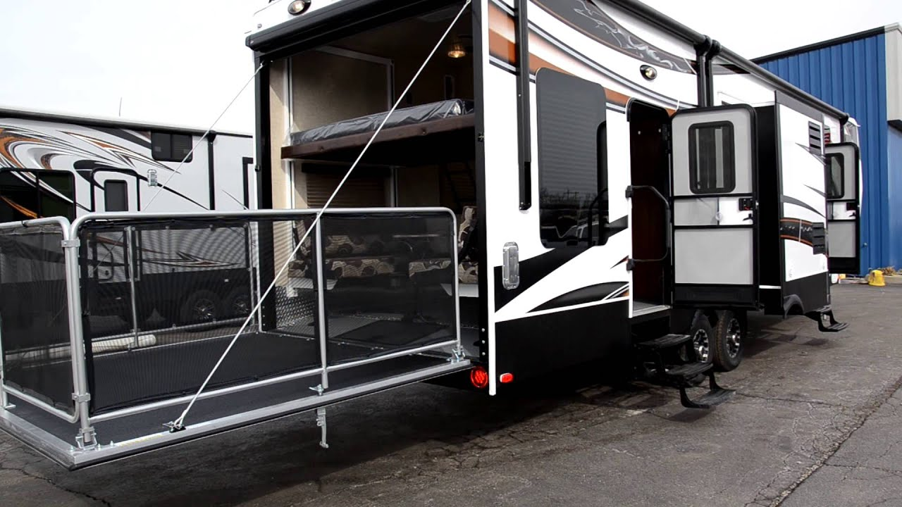 29701 Fuzion 342 Fifth Wheel Toy Hauler Youtube