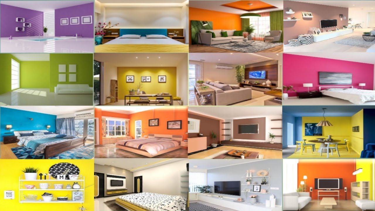 Best Colour Combination For Living Room Wall House Wall Interior Wall Color Ideas Bedroom Wall Youtube