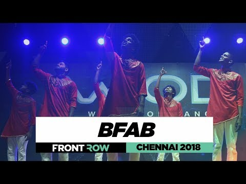 BFAB | FrontRow | World of Dance Chennai 2018 | #WODCHENNAI18