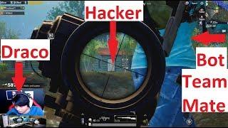 Bot Vs Hacker | Draco gets Bot Teammate  | Funny Pubg Mobile