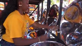 """Steel Orchestra Plays Kes's """"Hello""""."""