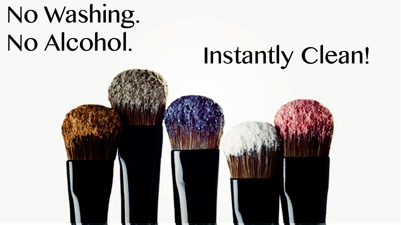 HOW TO INSTANTLY CLEAN YOUR MAKEUP BRUSHES WITHOUT WASHING / SPRAY ...
