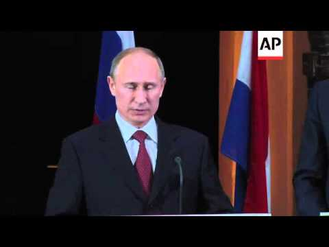 Putin on Thatcher and gay rights; gay and lesbian protest