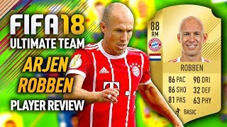 FIFA 18 ARJEN ROBBEN (88) PLAYER REVIEW! FIFA 18 ULTIMATE TEAM!