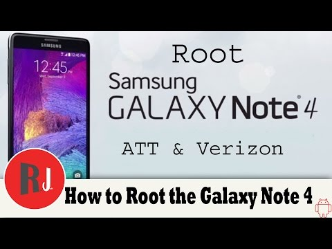 How to Root the Samsung Galaxy Note 4 Verizon and AT&T - YouTube