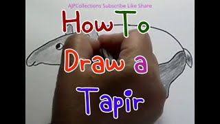 How to Draw tapirs for children step by step