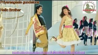 Priyaraagale telugu karaoke for Male singers with lyrics