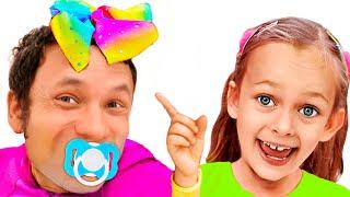 Майя и Маша поменялись местами с родителями + другие истории с игрушками для детей