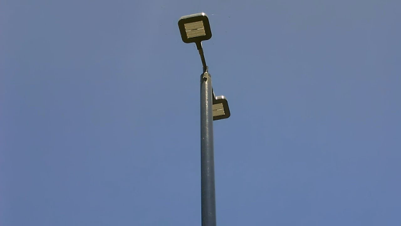 solar powered LED light poles (lamp posts) - good use of solar ...