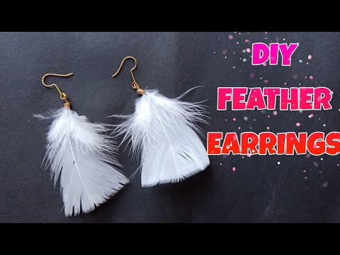 DIY Feather Earrings🌸