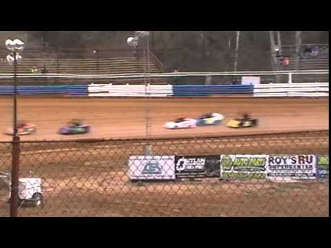Tyler County Speedway 4-18-14 Heat #2 Mini Wedges