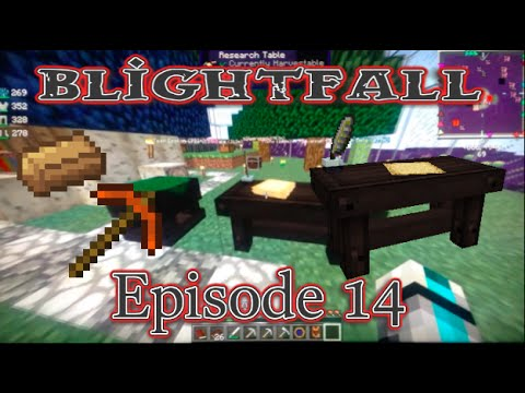 Minecraft Blightfall Let's Play Ep.14: Made The Research Table!