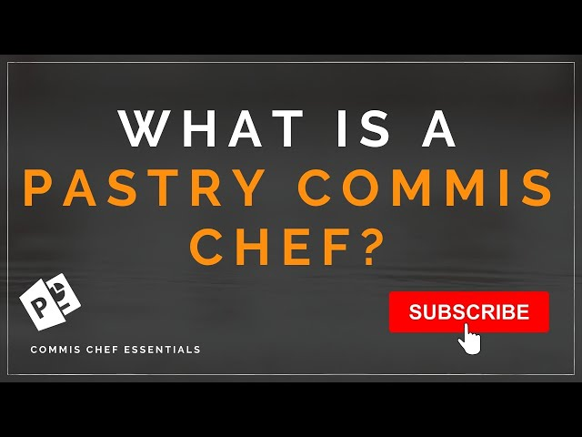 How to become a pastry chef. So what is a Pastry Commis Chef In A Professional Kitchen Brigade