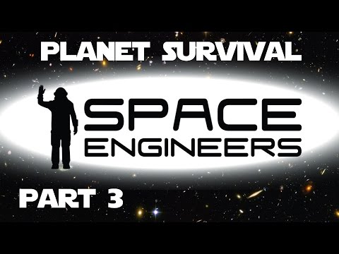 Space Engineers Planet Survival Ep 03 - Setting up power in the new base