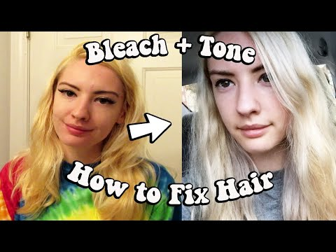 HOW TO FIX YELLOW HAIR | Bleach + Tone With Wella T18